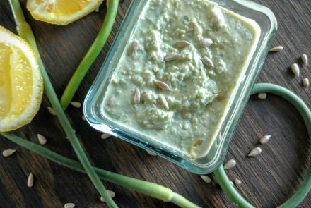 Lemon Garlic Scape Dip