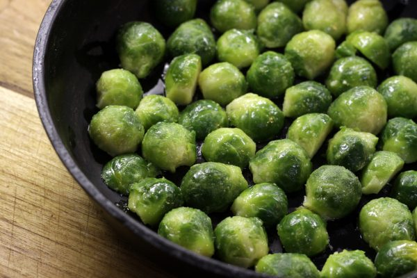 brussels sprouts, pan fried