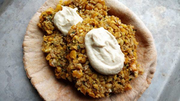 falafel, chickpeas, baked
