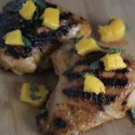 Mango Marinated Grilled Chicken Thighs