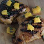 Mango Marinated Grilled Chicken Thighs